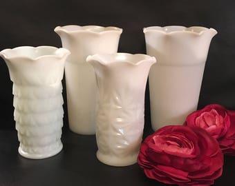 Vintage Hazel Atlas Assorted Vases Set of 4