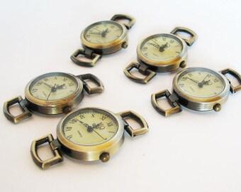Cadrans montre bronze vintage rond par 5 pour création de montre