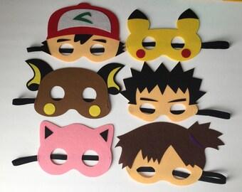 Poke Monster Kids Felt Mask PARTY FAVORS II