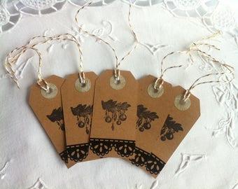 5 cardboard gift - tags for Christmas tags