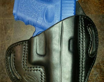 Leather pancake holster for Glock 26,27,33