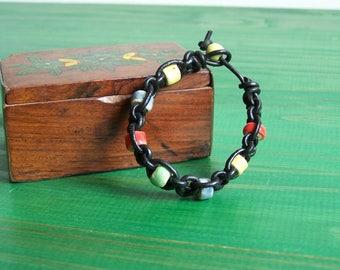 "Ceramic bracelet ""shamballa"" kids Earth and jewelry"