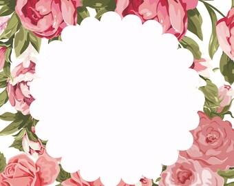 Floral Frame Art
