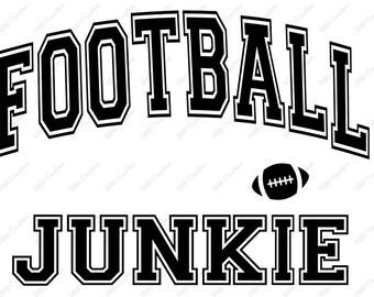 Football Junkie - .svg .eps .png .dfx