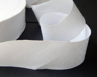 50 cm flat bias white width 40 mm