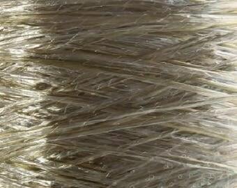 Polyester yarn on a cone glitter yarn knitting yarn crochet yarn hand knitting yarn silver yarn straw yarn sparkling yarn lace yarn lurex