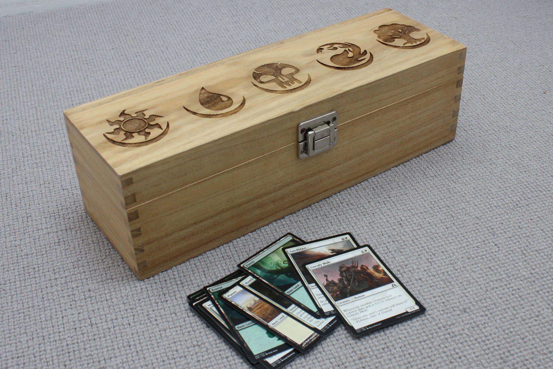 Magic The Gathering Card Box Mtg Card Storage Wooden Deck Box