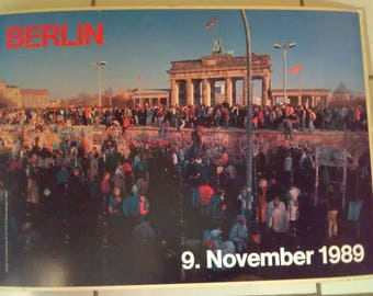 Extremely Rare German Berlin Wall Poster
