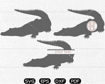 Crocodile Svg, Crocodile Clipart, Monogram Frame cricut, cameo, silhouette cut files commercial & personal use