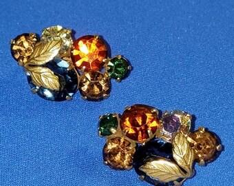 Vintage CORO gold tone clips