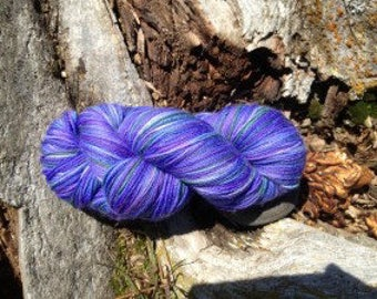 Lupine - Part of the Alaskan Color way, hand painted yarns inspired by the the magic of Alaska
