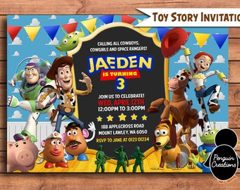 Toy Story Invitation. Toy Story Birthday Party. Party Supplies