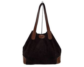 Brown leather handbag-Genuine cow leather