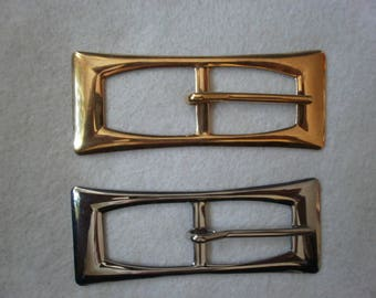 RECTANGULAR METAL belt buckle - 8cm - x - 3.5 cm - selling individually