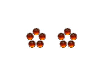 Hessonite Garnet Round Rose Cut Faceted Cabochons 3x3, 4x4, 5x5, 6x6 mm 100% Natural/Non-Heated/Non-Treated Gemstones For Designer Jewelry