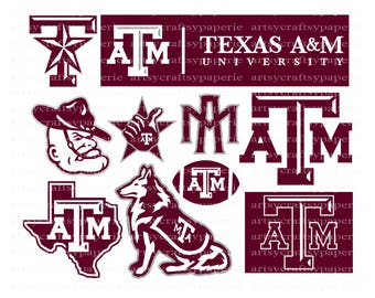 INSTANT DOWNLOAD - Texas A&M svg, Texas University Svg File, Texas Cricut File, Texas ATM Svg, Texas Aggies Svg, Aggies Clipart