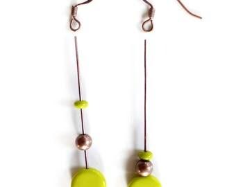 KIT DIY BO Palet  vert Olive opaque - création boucles d'oreilles - idée cadeau