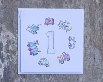First Birthday Planes, Trains & Cars