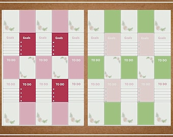 pastel | Weekly Printable Planner Kit | Planner Stickers | Cut Line Files | for use with Erin Condren | Planner Stickers Printables
