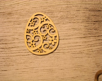 engraved egg 1196 embellishment wooden creations