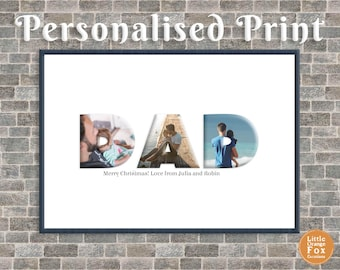 DAD Personalised Photo Picture Print | Father's Day Gift | Birthday Gift For Dad