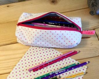 """Solar Kit """"pink stars"""" cotton."""