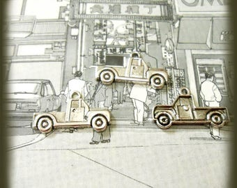Truck Pickup antique silver 3 charm