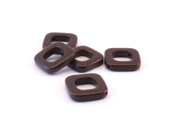 Set of 5 Brown diamonds