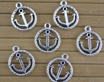10 antique silver 19 mm bc260 anchor charms