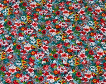 SMALL flowers printed viscose jersey fabric