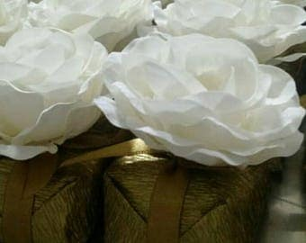Fabric Flower for Wedding Decoration (100 pieces)