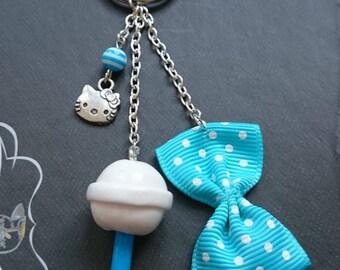 Key childhood lollipop chupa chups polymer clay