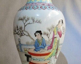 Chinese Republic Period Porcelain Famille Rose Vase