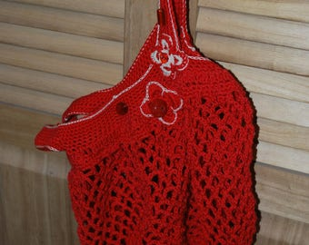 net bag red novelty cotton