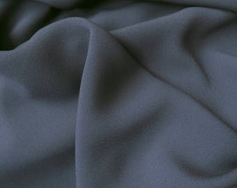 Dark grey polyester crepe fabric / anthracite - price by 50 cm