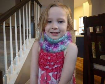 Fuzzy cowl for girl's 3-5... FREE SHIPPING