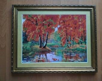 Autumn Autumn in Ukraine Ukrainian art Original folk Ethnic art Ukrainian style