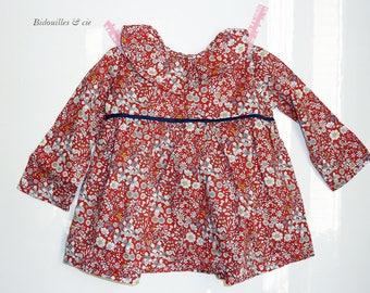 Baby liberty frill collar blouse