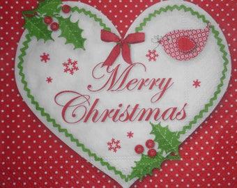 034 merry christmas napkin