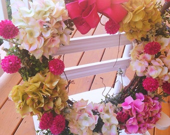 Hydrangea wreath , flower wreath