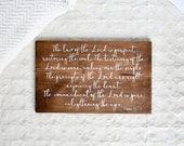 Wood Sign - 9x13 1 John 4:11-12