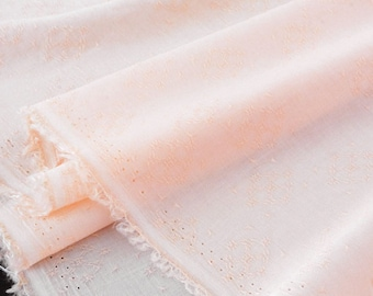 Coupon 150x140cm peach pink silky flowing viscose fabric