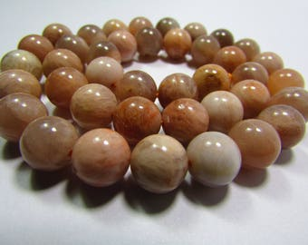 Set of 2 10 mm Sunstone beads