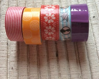 Set of 5 Masking tape ideal for scrapbooking