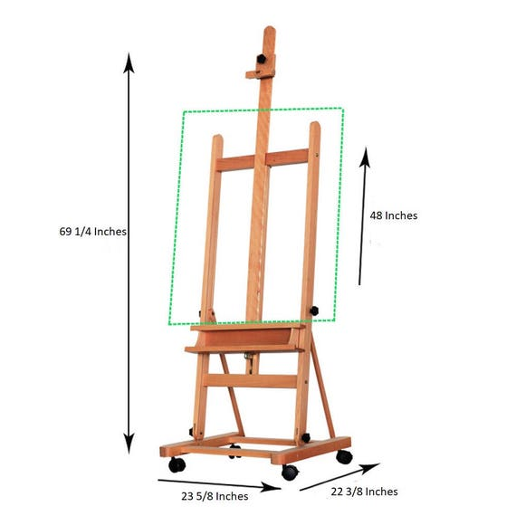 Brand new portable french 360 beech wood easel studio for Ptable french