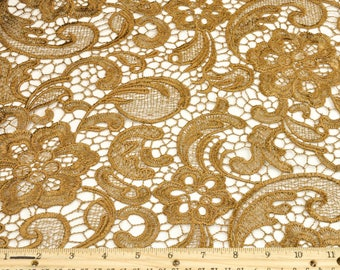 Anastasia GOLDEN BROWN Guipure Lace Fabric by the Yard - Style 1004