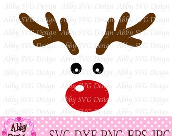 Reindeer Face Cut File svg,png,dxf and eps file for the Cutting Machines