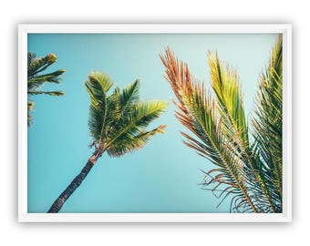 Palm Leaves Art Print, Palm Leaf Wall Decor, Palm Leaf, Digital Download, Palm Leaf Print, Tropical Art Poster, Tropical Leaves, Wall Art