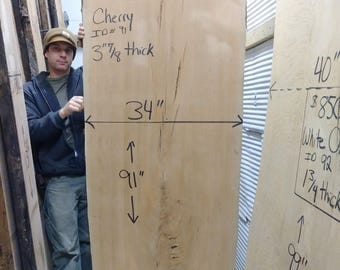 Large Cherry Slab (3-7/8'' thick, already CNC flattened)# 58