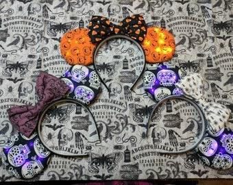 Light up Halloween Minnie Ears
